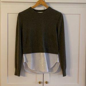 EUC Veronica Beard Mixed Media Cashmere Sweater